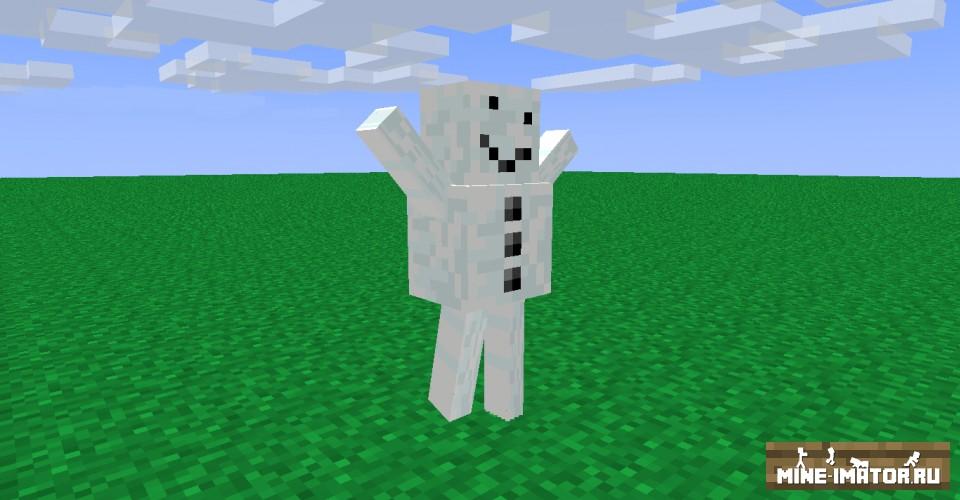 Mine-imator Модель снеговика