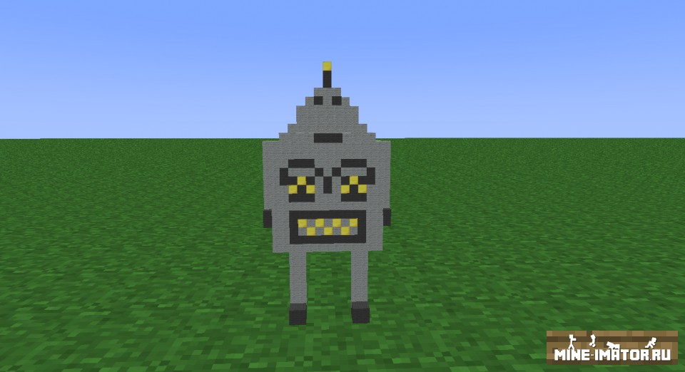 Mine-imator Robot rig - модель робота