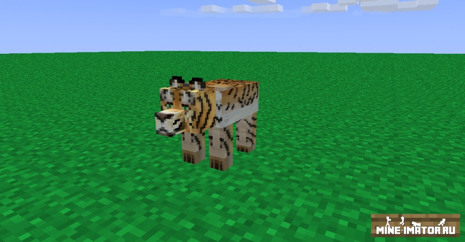 Mine-imator Модель тигра
