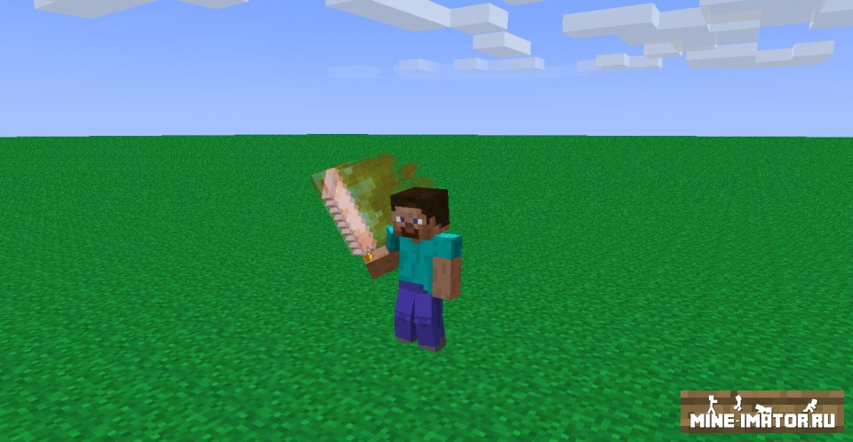 Mine-imator Пламенный меч