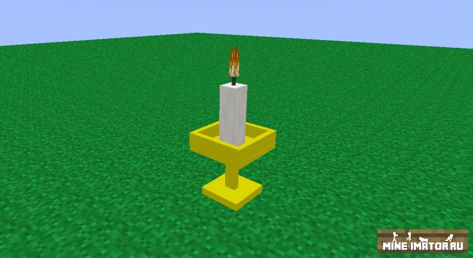 Mine-imator Свеча с подсвечником