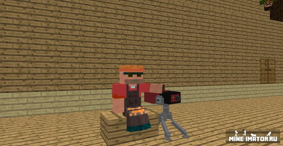 Mine-imator Sentry из Team Fortress 2
