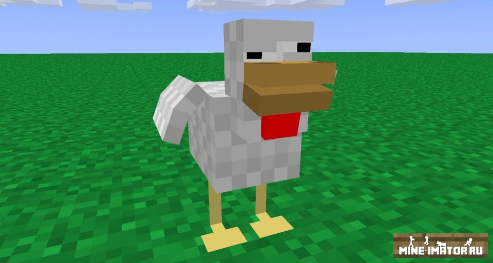 Mine-imator Модель курицы