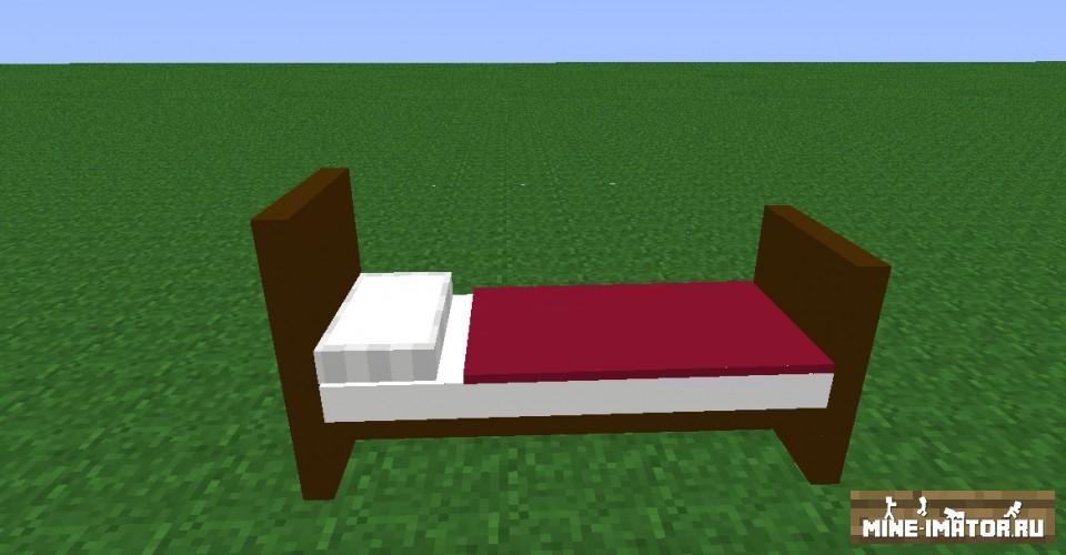 Mine-imator Кровать