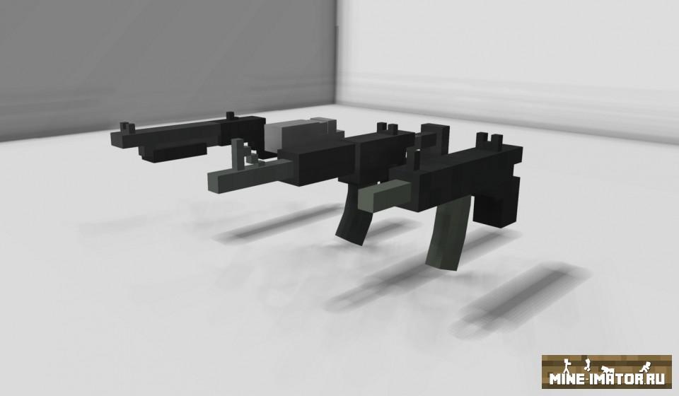 Mine-imator Дробовик, пистолет-пулемет и пистолет