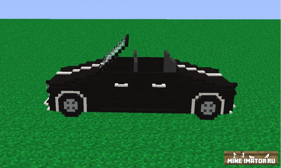 Mine-imator Черный автомобиль