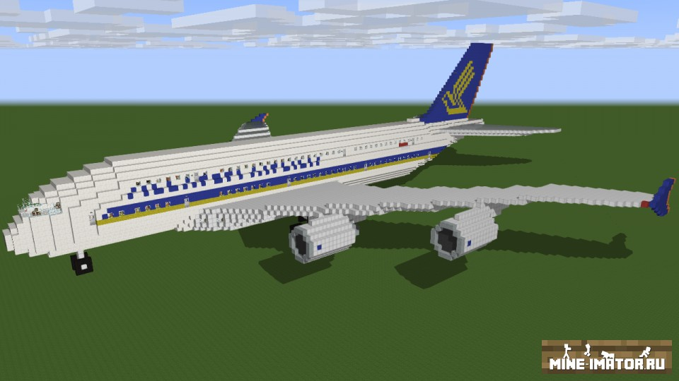 Mine-imator Риг Airbus А380
