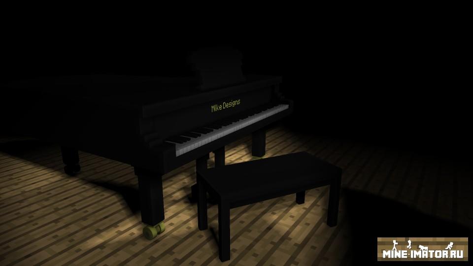 Mine-imator Пианино