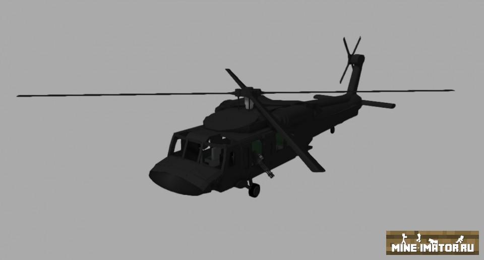 Mine-imator Модель вертолета