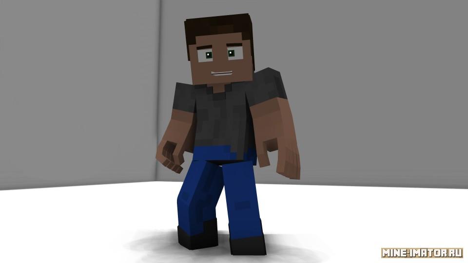 Mine-imator Стив от WillesFilmz (версия 2)