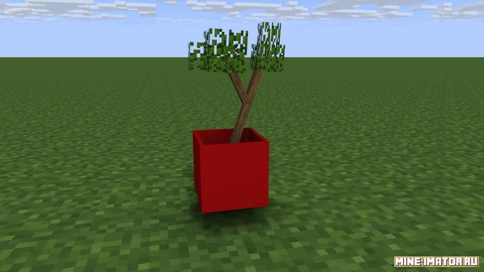 Mine-imator Горшок с деревом