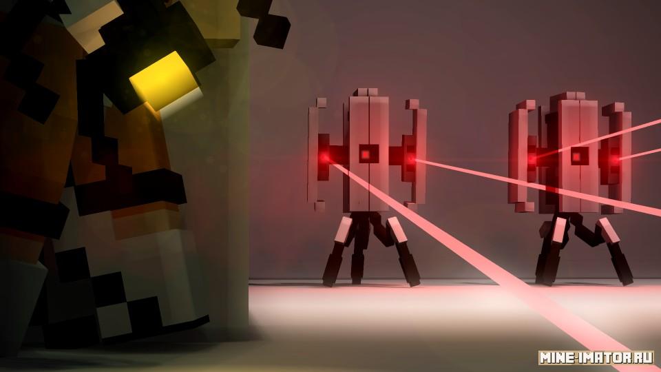 Mine-imator Турель из игры Portal
