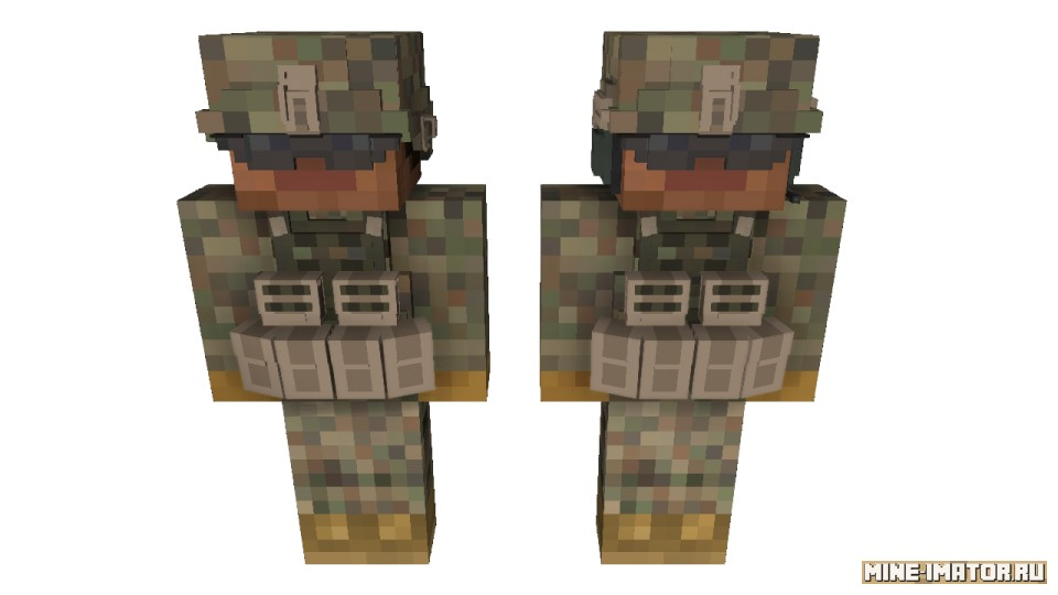 Mine-imator Солдат