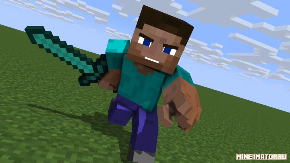 Mine-imator Стив от Dark Gamer