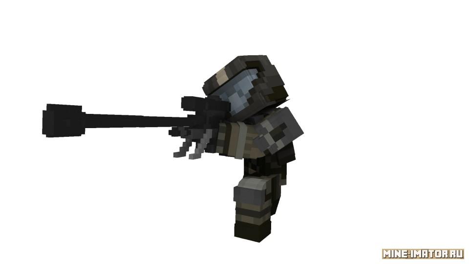 Mine-imator Снайперская винтовка + броня