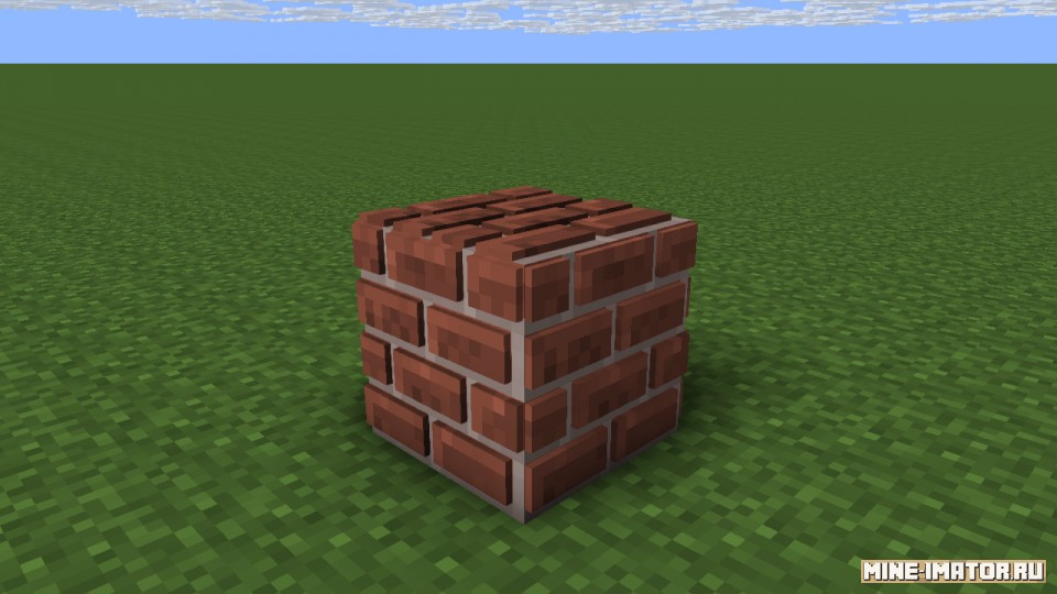 Mine-imator 3D блок кирпича