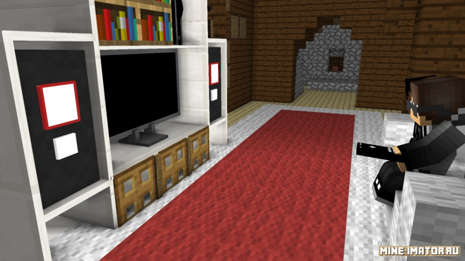 Mine-imator Телевизор и шкаф