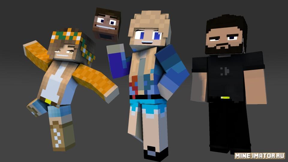 Mine-imator Универсальные лица (версия 2)