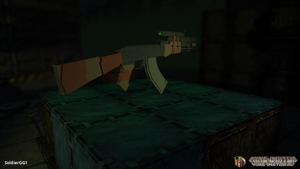 АК-47 с лазерным прицелом