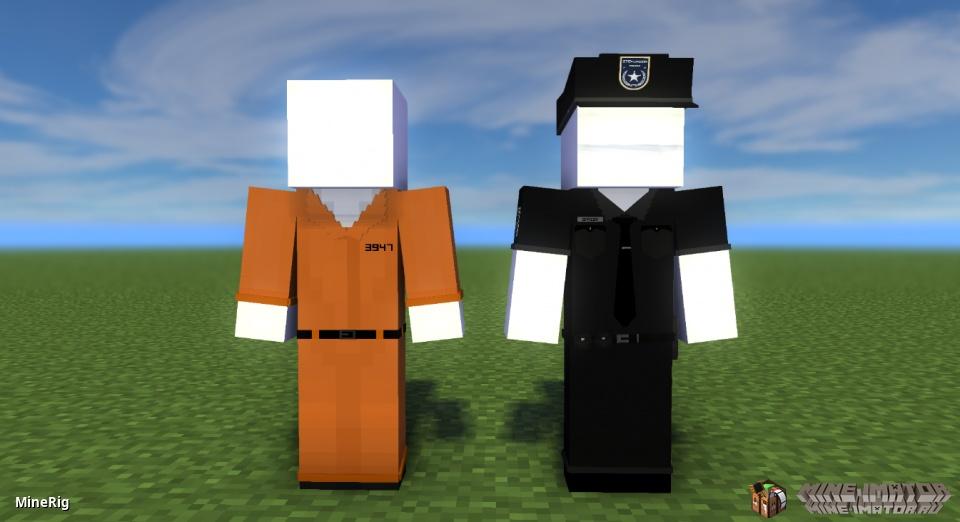 Офицер полиции и заключенный