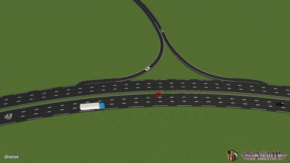 Пак с дорогами и дорожными знаками